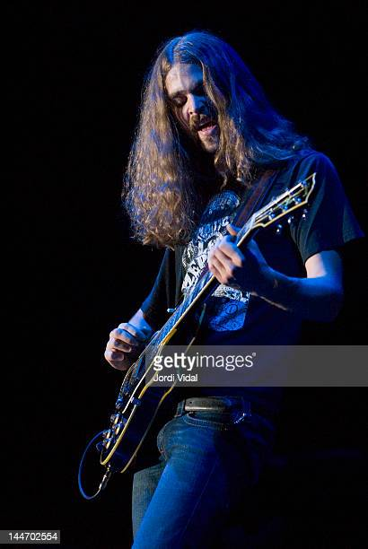 Daniel Sproul of Rose Hill Drive performs on stage at Palacio de Deportes on May 17, 2007 in Madrid, Spain.