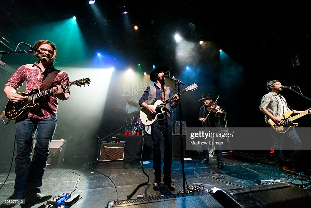 Daniel Sproul, Ryan Bingham, Richard Bowden and Jimmy Stofer perform live on stage for the 'Fear and Saturday Night' Tour at Irving Plaza on February 5, 2016 in New York City.