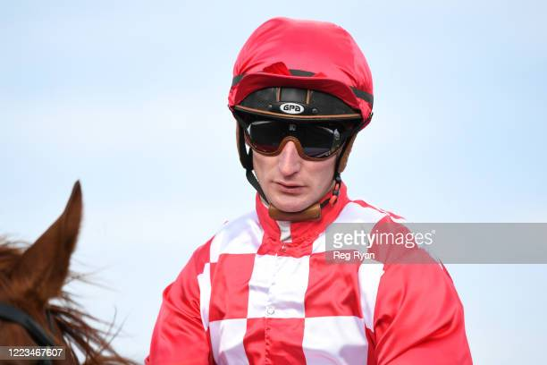 Daniel Stackhouse returns to the mounting yard on Impetus after winning the Hertz 2YO Maiden Plate, at Sportsbet-Ballarat Synthetic Racecourse on...