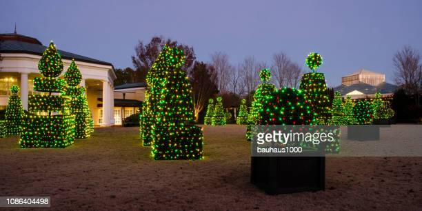 daniel stowe botanical garden during holidays at the garden - southern christmas stock pictures, royalty-free photos & images