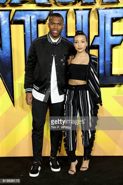 Daniel Sturridge attends the European Premiere of 'Black Panther' at Eventim Apollo on February 8 2018 in London England