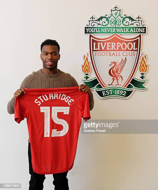 Daniel Sturridge completes his transfer to Liverpool FC at Melwood Training Ground on January 2, 2013 in Liverpool, England.