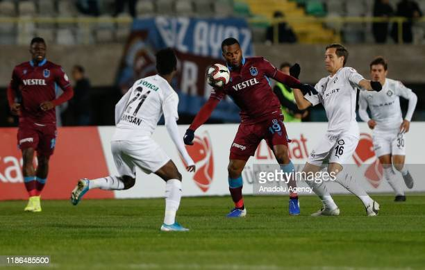 Daniel Sturridge in action against Anton Putsila and Ibrahim Adamu of Altay during Ziraat Turkish Cup 5th round soccer match between Altay and...