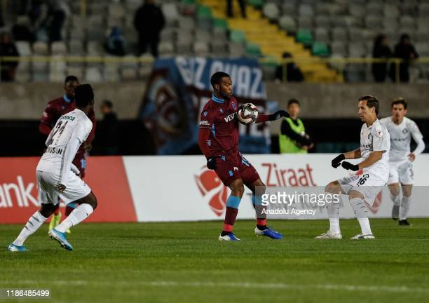 Daniel Sturridge in action against Anton Putsila of Altay during Ziraat Turkish Cup 5th round soccer match between Altay and Trabzonspor at Izmr...