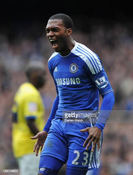 Daniel Sturridge of Chelsea celebrates his goal during the FA Cup with Budweiser Fifth Round match between Chelsea and Birmingham City at Stamford...