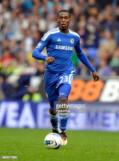 Daniel Sturridge of Chelsea in action during the Barclays Premier League match between Bolton Wanderers and Chelsea at the Reebok Stadium on October...