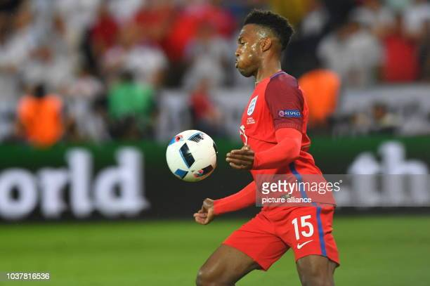 Daniel Sturridge of England in action during the preliminary round Group B match between Slovakia and England at Geoffroy Guichard stadium in...