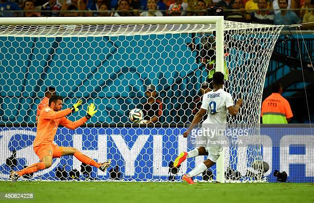 Daniel Sturridge of England scores the team's first goal during the 2014 FIFA World Cup Brazil Group D match between England and Italy at Arena...