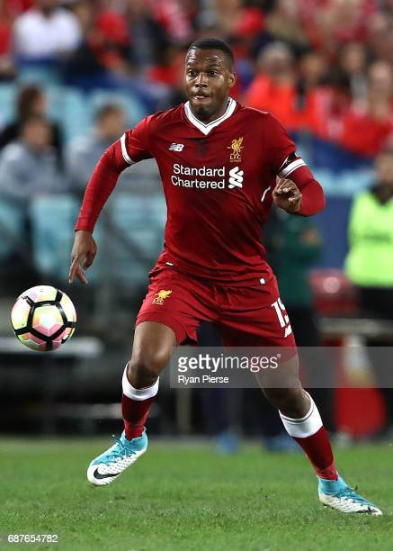 Daniel Sturridge of Liverpool controls the ball during the International Friendly match between Sydney FC and Liverpool FC at ANZ Stadium on May 24...