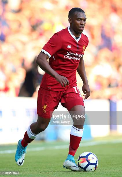 Daniel Sturridge of Liverpool during a preseason friendly match between Tranmere Rovers and Liverpool at Prenton Park on July 12 2017 in Birkenhead...