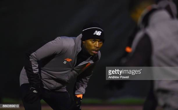 Daniel Sturridge of Liverpool during a training session at Melwood Training Ground on December 5 2017 in Liverpool England