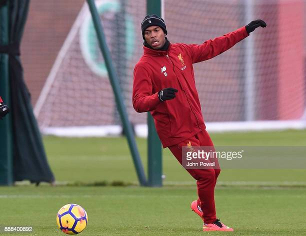 Daniel Sturridge of Liverpool during a training session at Melwood Training Ground on December 8 2017 in Liverpool England