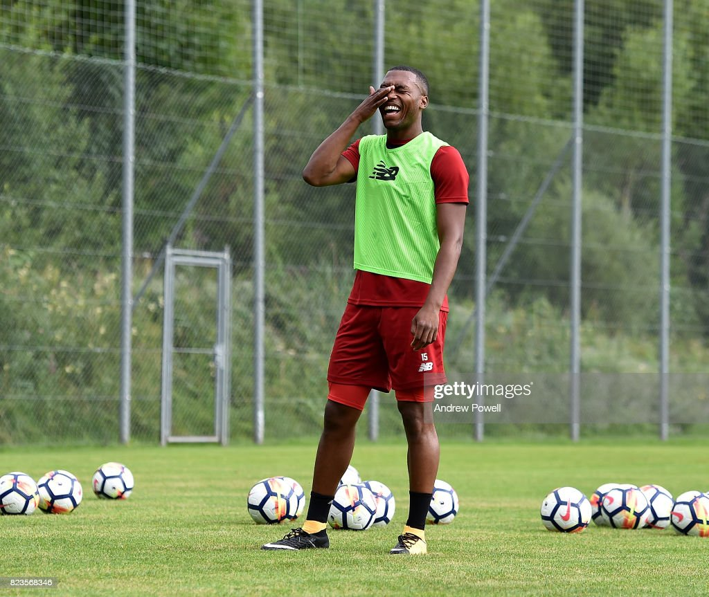 Daniel Sturridge of Liverpool during a training session at Rottach-Egern on July 27, 2017 in Munich, Germany.