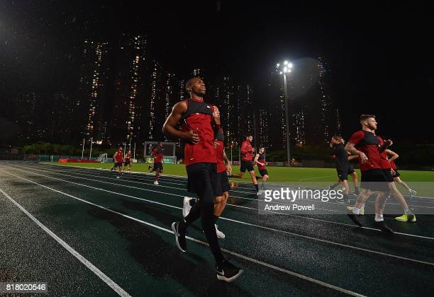 Daniel Sturridge of Liverpool during a training session on July 18 2017 at the Tseung Kwan O Sports Ground Hong Kong