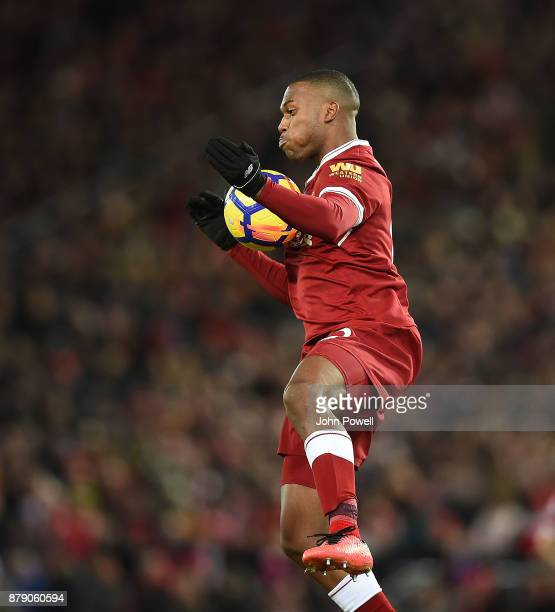 Daniel Sturridge of Liverpool during the Premier League match between Liverpool and Chelsea at Anfield on November 25 2017 in Liverpool England