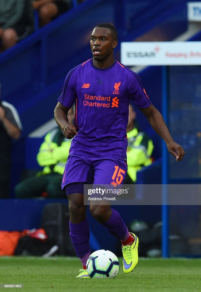 Daniel Sturridge of Liverpool during the pre-season friendly match between Tranmere Rovers and Liverpool at Prenton Park on July 10, 2018 in Birkenhead, England.