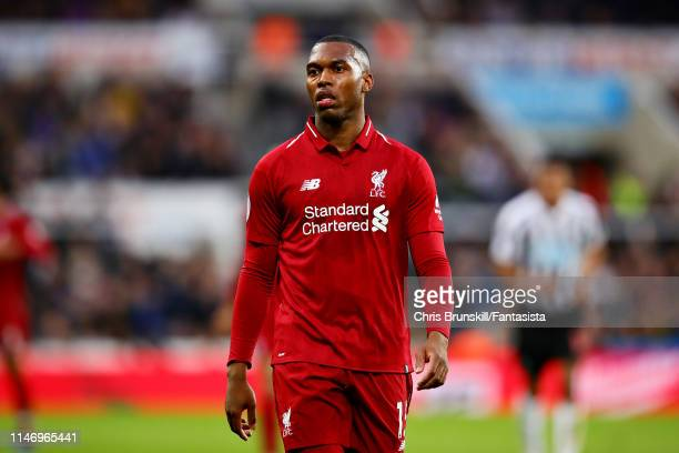 Daniel Sturridge of Liverpool looks on during the Premier League match between Newcastle United and Liverpool FC at St. James Park on May 04, 2019 in...