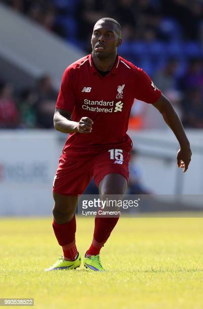 Daniel Sturridge of Liverpool runs in the field during the Preseason friendly between Chester FC and Liverpool on July 7 2018 in Chester United...