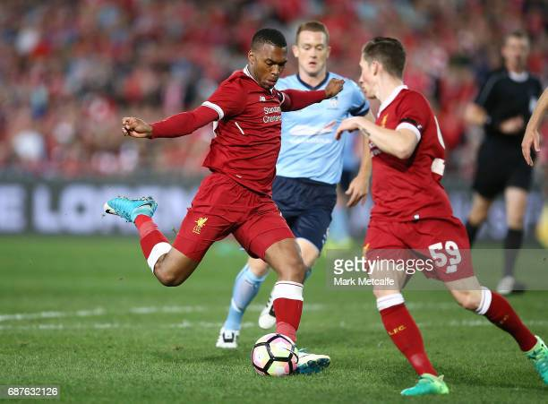 Daniel Sturridge of Liverpool scores a goal during the International Friendly match between Sydney FC and Liverpool FC at ANZ Stadium on May 24, 2017...