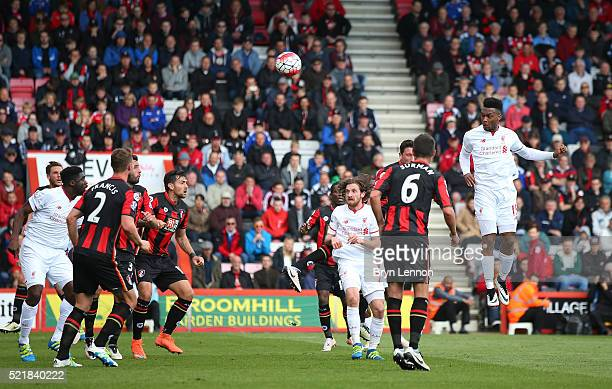 Daniel Sturridge of Liverpool scores his team's second goal of the game during the Barclays Premier League match between A.F.C. Bournemouth and...