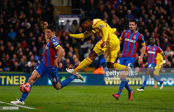 Daniel Sturridge of Liverpool scores their first goal during the FA Cup fifth round match between Crystal Palace and Liverpool at Selhurst Park on...