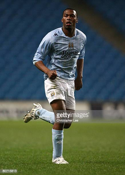 Daniel Sturridge of Manchester City in action during the FA Youth Cup Sponsored by eon Semi Final Second Leg match between Manchester City and...