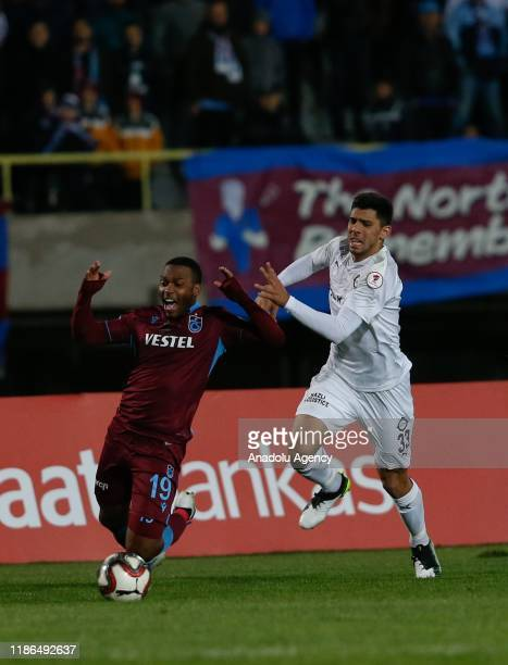 Daniel Sturridge of Trabzonspor in action against Cenk Ozkacar of Altay during Ziraat Turkish Cup 5th round soccer match between Altay and...
