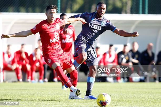 Daniel Sturridge of Trabzonspor in action during a friendly match between Trabzonspor and Partizani Tirana within the Trabzonspor midseason training...