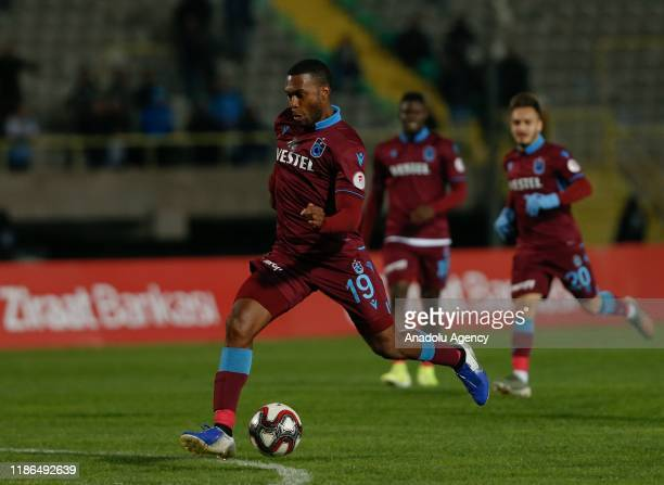 Daniel Sturridge of Trabzonspor in action during Ziraat Turkish Cup 5th round soccer match between Altay and Trabzonspor at Izmr Ataturk Stadium in...