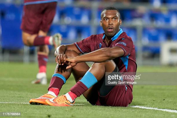 Daniel Sturridge of Trabzonspor reacts after missing a chance of goal during the UEFA Europa League group C match between Getafe CF and Trabzonspor...