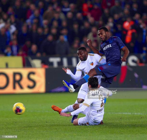 Daniel Sturridge of Trabzonspor vies for the ball during the Turkish Super Lig soccer match between Trabzonspor and Istikbal Mobilya Kayserispor in...