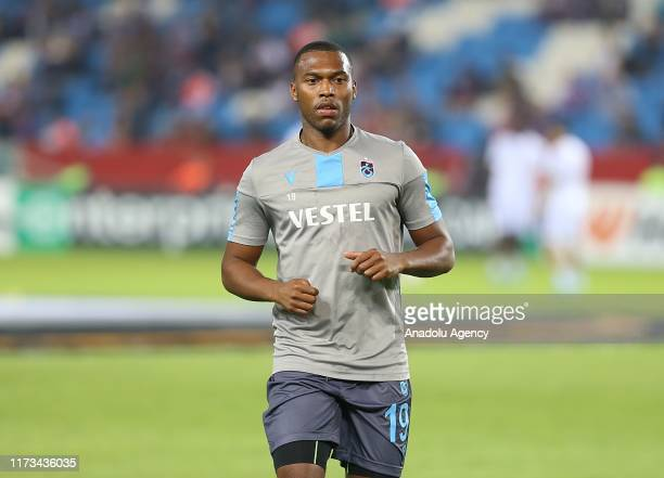 Daniel Sturridge of Trabzonspor warms up ahead of the UEFA Europa League Group C Match between Trabzonspor and Basel in Trabzon Turkey on October 03...
