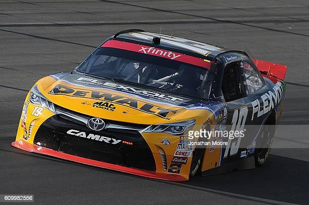 Daniel Suarez driver of the DEWALT FLEXVOLT Toyota on track during practice for the NASCAR XFINITY Series VysitMyrtleBeachcom 300 at Kentucky...