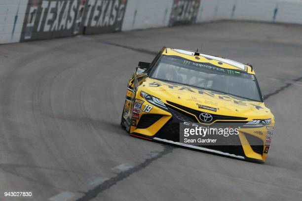 Daniel Suarez driver of the STANLEY Racing for a Miracle Toyota practices for the Monster Energy NASCAR Cup Series O'Reilly Auto Parts 500 at Texas...