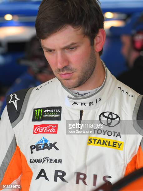 Daniel Suarez Joe Gibbs Racing ARRIS Toyota Camry during practice for the Monster Energy Cup Series Folds of Honor Quiktrip 500 on February 23 at...