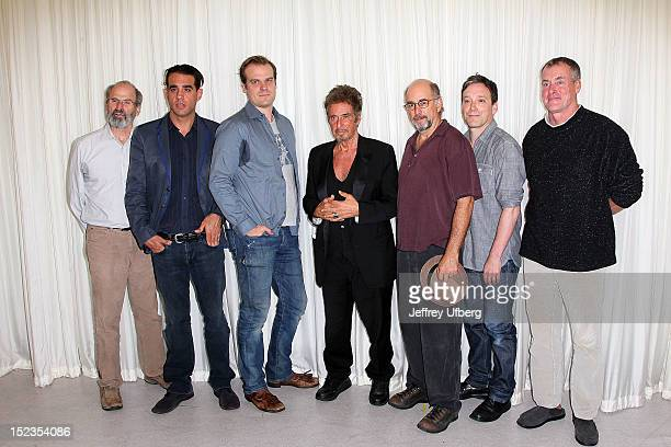 Daniel Sullivan Bobby Cannavale David Harbour Al Pacino Richard Schiff Jeremy Shamos and John C McGinley attend the Glengarry Glen Ross Broadway Cast...