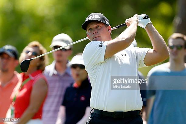 Daniel Summerhays hits off the second tee during the final round of the Valspar Championship at Innisbrook Resort Copperhead Course on March 15 2015...