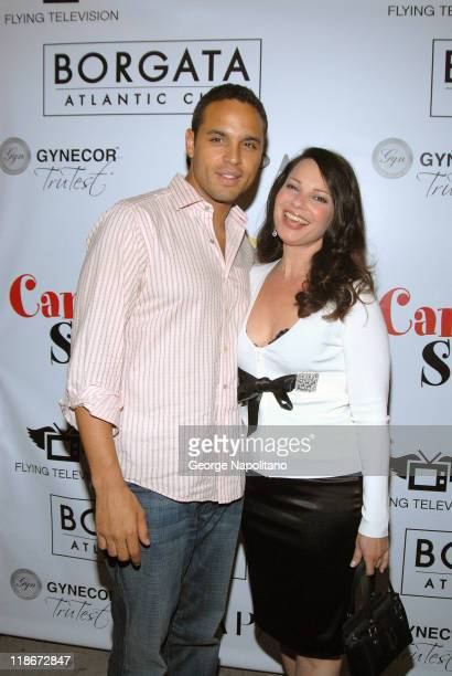 Daniel Sunjata and Fran Drescher during Fran Drescher Hosts the Launch of the Cancer Schmancer Charity at Sapa Restaurant in New York City, New York,...