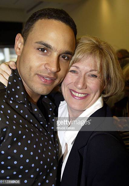 Daniel Sunjata and Jayne Atkinson during The Official Drama Desk Cocktail Party at St John Boutique in New York City New York United States