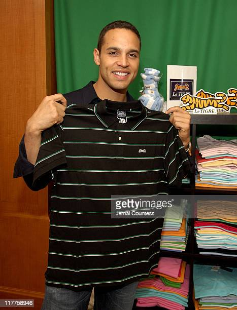 Daniel Sunjata at the Le Tigre Gift Station during Lucky/Cargo Club - Day 1 at Ritz Carlton in New York City, New York, United States.