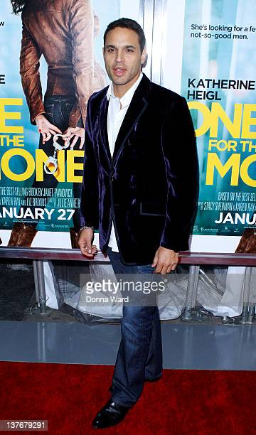 Daniel Sunjata attends the One for the Money premiere at the AMC Loews Lincoln Square on January 24 2012 in New York City