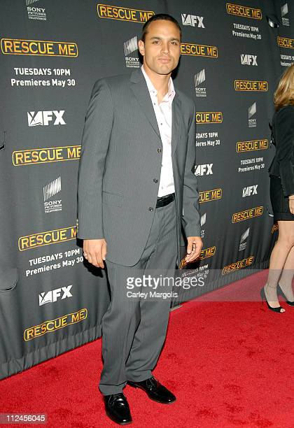 "Daniel Sunjata during ""Rescue Me"" Season Three New York Premiere at Ziegfeld Theater in New York City, New York, United States."