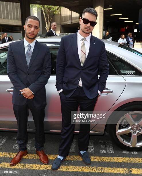 Daniel Sylvester Woolford and Allan Mustafa arrive in an Audi at the BAFTA TV on Sunday 14 May 2017 on May 14 2017 in London United Kingdom