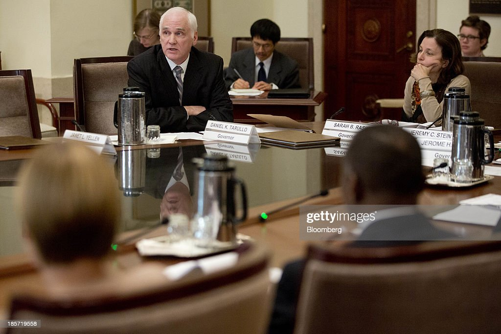 Federal Reserve Board Of Governors Open Meeting : News Photo