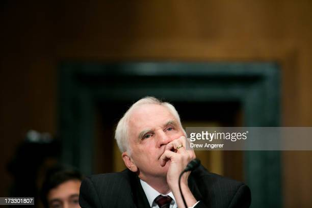 Daniel Tarullo, governor on the Board of Governors of the Federal Reserve, is seen during a Senate Banking, Housing and Urban Affairs Committee...
