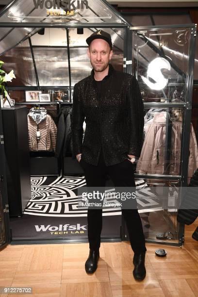 Daniel Termann attends the Wolfskin Tech Lab x Gianni Versace retrospective opening event at Kronprinzenpalais on January 30 2018 in Berlin Germany