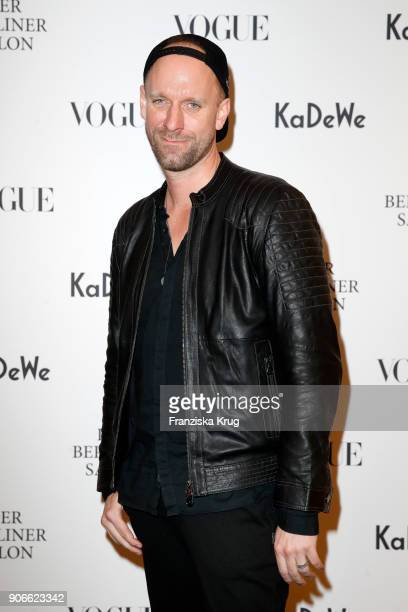Daniel Termann during the celebration of 'Der Berliner Salon' by KaDeWe Vogue at KaDeWe on January 18 2018 in Berlin Germany