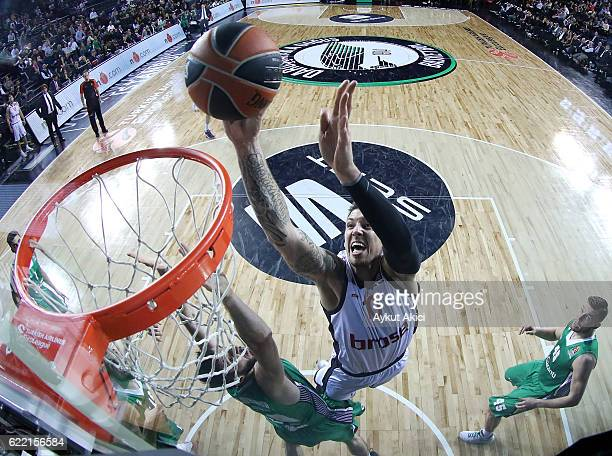 Daniel Theis #10 of Brose Bamberg in action during the 2016/2017 Turkish Airlines EuroLeague Regular Season Round 6 game between Darussafaka Dogus...