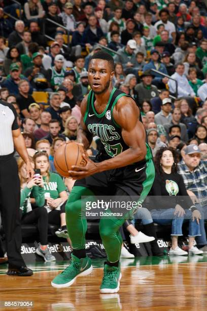 Daniel Theis of the Boston Celtics handles the ball against the Phoenix Suns on December 2 2017 at the TD Garden in Boston Massachusetts NOTE TO USER...