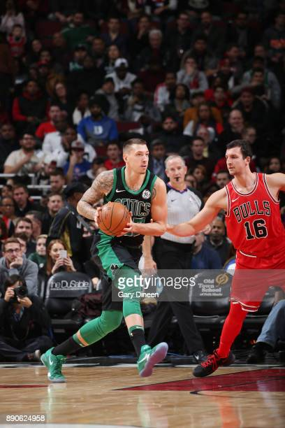 Daniel Theis of the Boston Celtics handles the ball Chicago Bulls on December 11 2017 at the United Center in Chicago Illinois NOTE TO USER User...